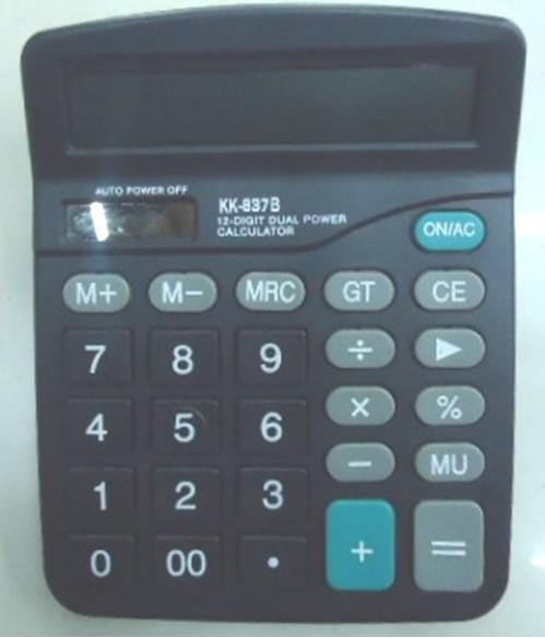 Калькулятор №837В JOINOS мал чёр 12цифр солнеч. или 1R6 (120)
