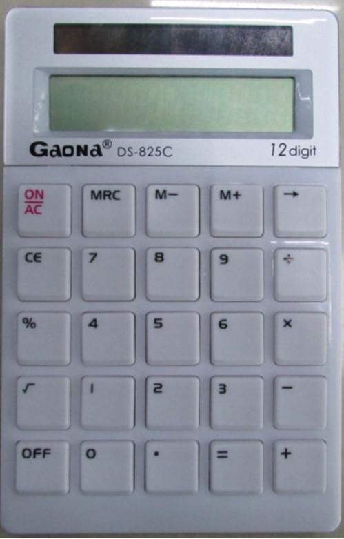 Калькулятор №DS-825C пл 4цв 12цифр без бат. в бум. кор. (160)
