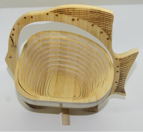 Фруктовница №фбр-1 бамб. форма рыба складная (26*26)см в бум. кор. (30)