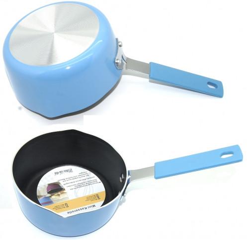 Сковородка №СА-14 алюм. круг. с силик. руч. в кл. (6,2*14,5*26,4)см (72)