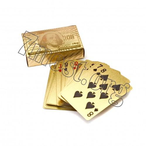 Карты №КПЗ-1 золот. цв. пл. доллар (100)