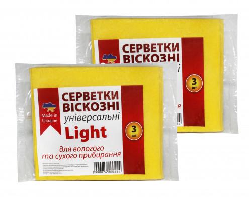 Салфетки вискозная 3шт Light (100)