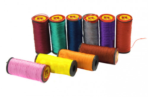 Нитки №375-3 цветные 10цв капрон. (1мм*40м) (500)