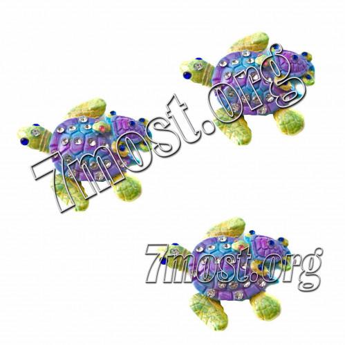 Магнит №МГ-7 д/холодильника керам. 2черепахи перлам. цв. 30шт в кор. (600)