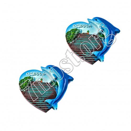 Магнит №4525 д/холодильника керам. 4вида (7*7)см 12шт в кор Одесса (288)