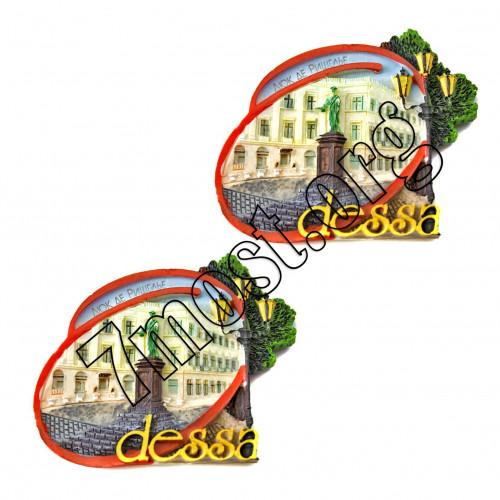 Магнит №4727 д/холодильника керам. 2вида (6,7*6,5)см 12шт в кор Одесса (288)