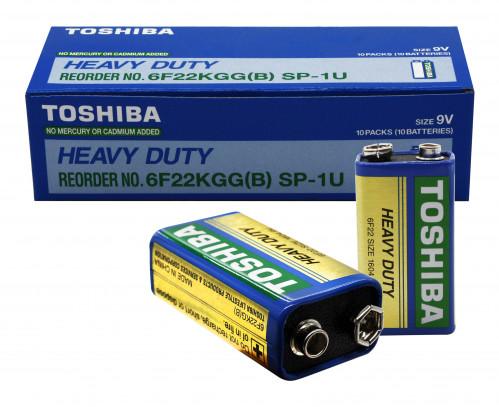 Батарейка 6F22 Toshiba в уп.10шт  (600/10)