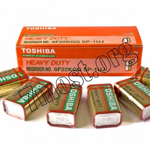Батарейка 6F22 Toshiba коробка (600/10)