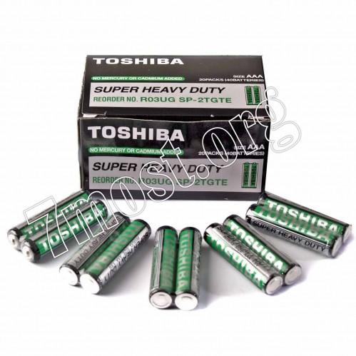 Батарейка R03 Toshiba чёрная (1000/200/40)