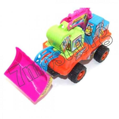 Игрушка №807-3 трактор пл. в кл. (9,7*14*23,5)см (96)
