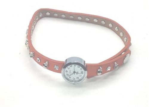 Часы д/руки №718-5 женские двойн. рем. с мет. череп. и жемч. (300)