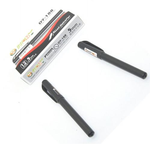 Ручка гелевая №DY-188-2 чёр. стерж. чёр. корп. 12шт в бум. пач. 0,5мм (1728)