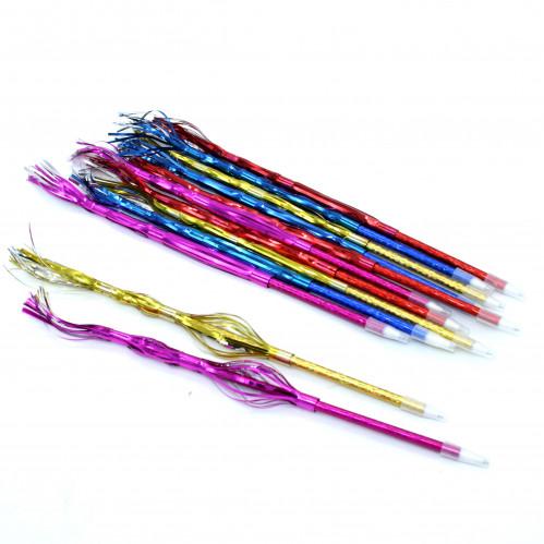 Ручка шариковая №11-3(№311-3) волос. с меняющ. фиг. 4цв блест син стерж в кл. 12шт (3600)