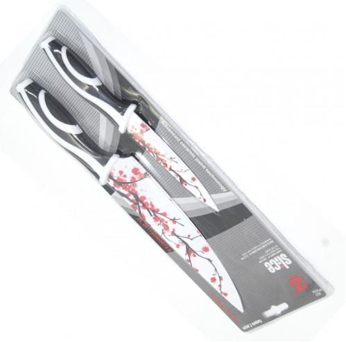 Набор №А2С нож нерж. 2шт на листе в пр. кор. фиол. цв. (4,5 +8)д (144)
