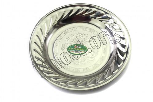 Тарелка №ТЦ-20 мет. круг. с цвет. узор. Д-20см (480)