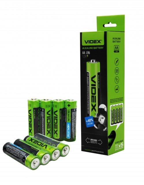 Батарейка LR06 Videx в спайке 4шт.  (720/60)