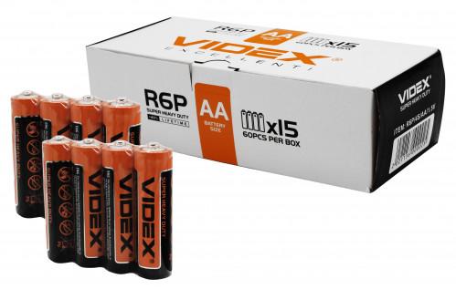 Батарейка R06 Videx super heavy duty в спайке 4шт. (1200/60)