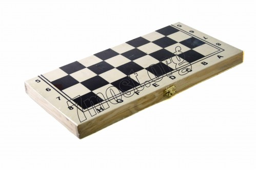 Шахматные игры №1734В дер. (3,2*16,9*34,2)см 3в1 бол. в кл. (66)