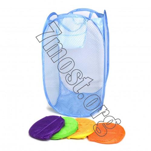 Корзина сетка для белья бол. цвет. (40*70)см №СБ-3 (120)