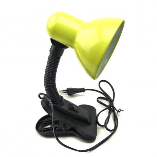 Лампа №108В с прищ. с кноп. выкл. металопл. 6цв Д-11см L-27см керам. в кл. (60)