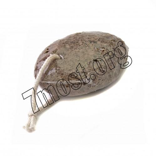 Камень №В4А-0040-2 педик. натур. овал. с вер. сред. (3*6*9)см корич. цв. (200)