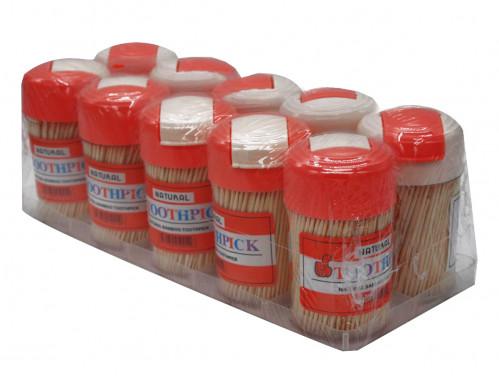 Зубочистки №Х6030 бамб. 300шт в пл. банке 10шт в наб. (360/10)
