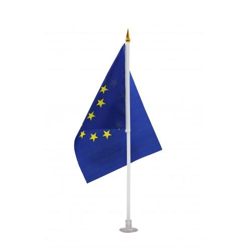 Флаг №027 ткан. лавсан (14*21)см в ср. пач. 100шт с палоч. и липуч. EURO (2400)