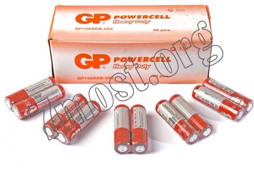 Батарейка R06 GP POWERCELL красная (1000)