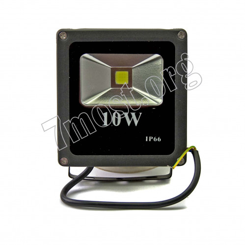 Лампа прожектор №10W-50 алюм. чёр. цв. в кор. квадр. (12*12,5*4) бел. свет (50)