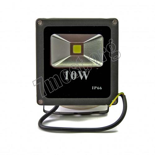 Лампа прожектор №10W-100 алюм. чёр. цв. в кор. квадр. (12*12,5*4) бел. свет (50)