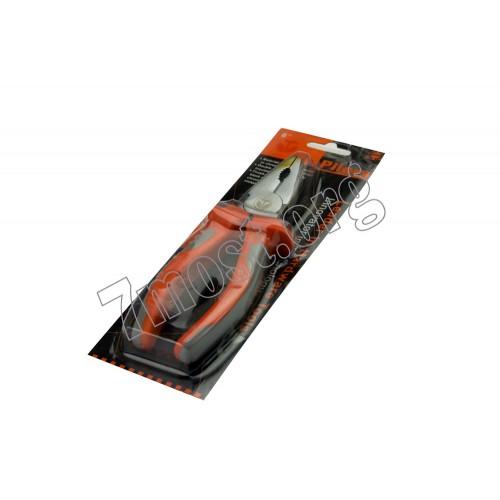 Плоскогубцы №6-31 плоск. металопл. с сер.-роз. руч. на листе 6д (120)