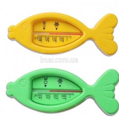 Термометр №ТБС-41 д/воды Рыбка зел. голуб. бел. (50)