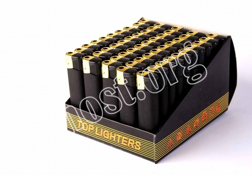 Зажигалка №6003А (№833-2) чёрная резиновая (1000)