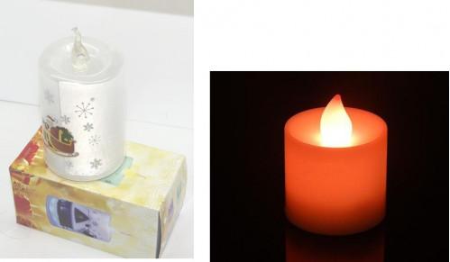 Ночник №НС-3 пл. с 6рис. свечи на 3R3 бат. (8*11,5*15)см (144)