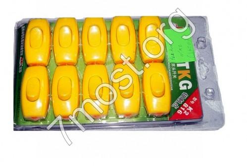 Вкл./Выкл. №К2 пл. бел. и оранж. цв. на листе 20шт (2*3*6,3)см (1600)