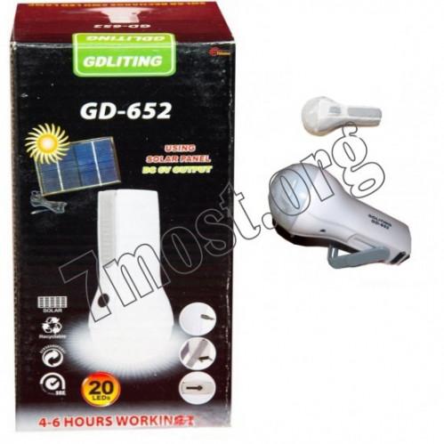 Фонарик №GD652 пл. 20LED ламп. 220в от розет. в кор. (60)