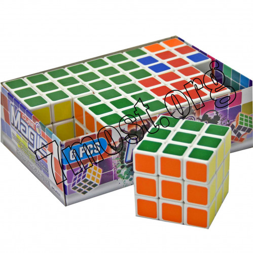 Кубик №58 пл. квадр. с пл. накл. 5,8см 6шт в кор. (288)