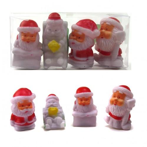Ночник №HD-4 Дед Мороз краснобел. цв 4шт 4вида в пр. PVC кор. (360)