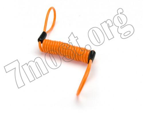 Верёвка №415 спир. держат. д/велос. металопл. 3цв 10шт в кл. 4мм*1,2м (600)