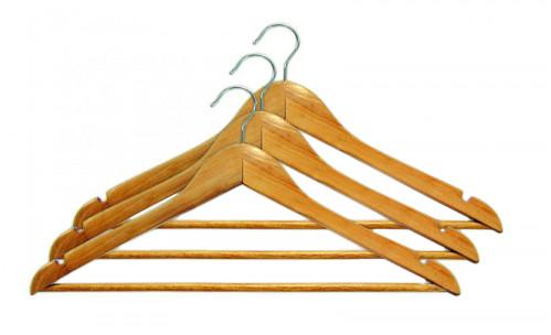 Вешалка №4522 (№5088) (№вдм-45-22) для одежды дер.-мет. (1,2*21,7*44,8)см (120)