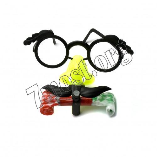 Прикольные очки №0028 с носом и усами мал. (2*8,5*13)см пл. 3цв в кл. (1200)