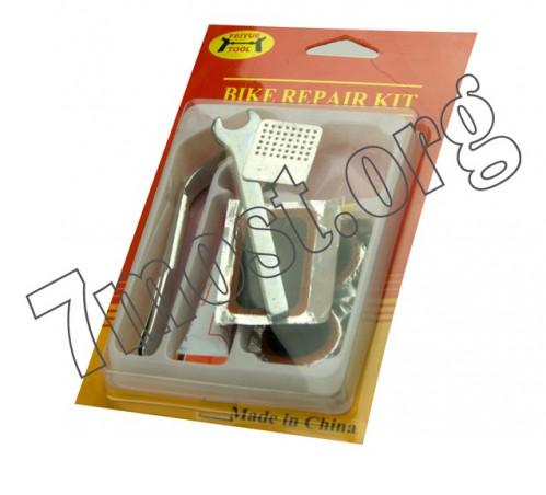 Набор №НР-12-1 д/ремонта велос. на листе 12предм (2*11,7*19,6)см ключ форма цветы (200)