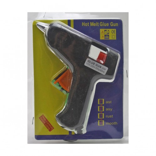 Пистолет №72 (MJ-63) металопл. без выкл. д/сух. клея мал. от розет. на листе деш. (120)