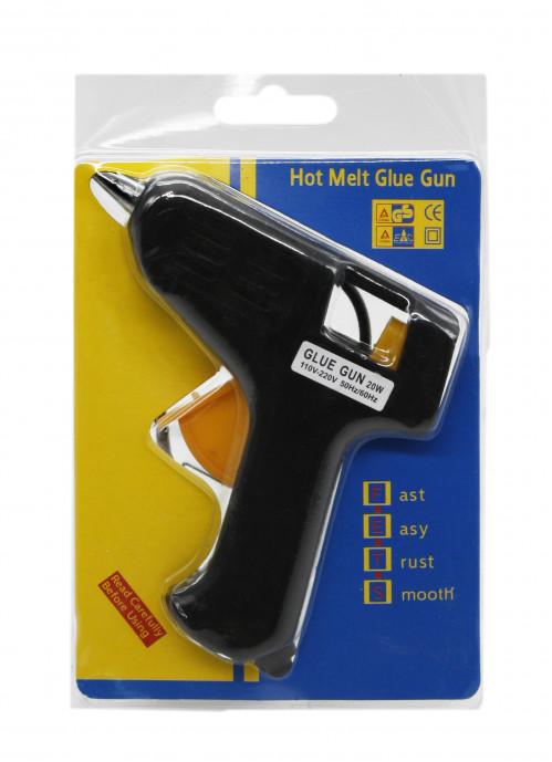 Пистолет №72 (MJ-63) металопл. без выкл. д/сух. клея мал. от розет. на листе деш. 10В (120)