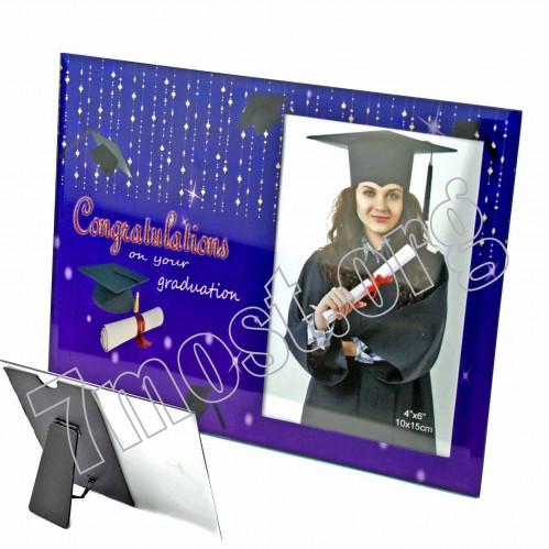 Рамки д/фото №S-847-Z124 стекл. фиол. цв. (10*15)см для выпускников (48)