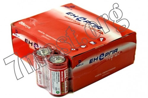 Батарейка R20 Енергия кор. (200/20)