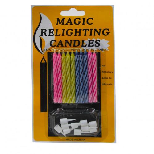 Свечи №SR-28 магич. незатух. перлам. на листе 10шт с 10шт подст. (576)