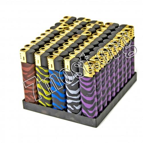 Зажигалка №2022-113 пьеза разноцветная зебра (1000/50)