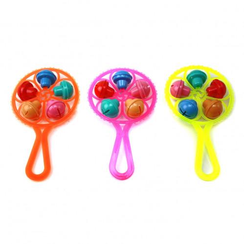 Игрушка №123 колокольчик пл. дет. шарик в кл. 1шт (2,5*9,5*16)см 4цв (960)