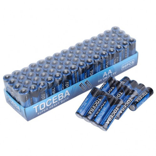 Батарейка R06-T TOCEBA 1,5v пальч. 60шт в кор. син. цв. (1200/60)